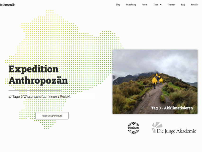 Expeditions-Webseite